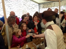 Chocolate demonstration at Ludlow Food Festival