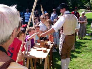 Demonstrating 18th Century army rations