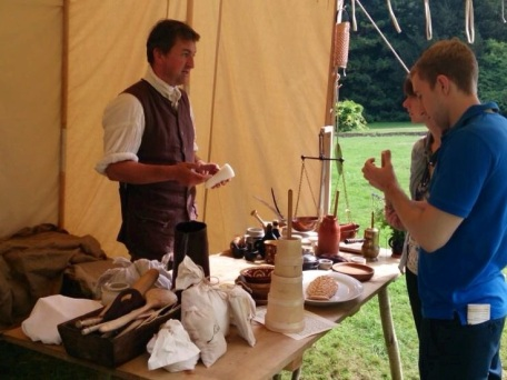 Demonstrating 18th century foods