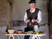 Demonstrating Tudor herbs & cookery
