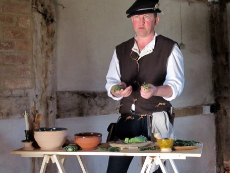 Demonstrating Tudor herbs & cookery
