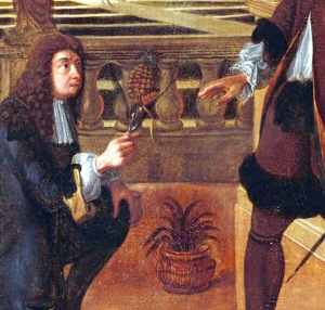 (Detail) Charles II Presented with a Pineapple. c.1675-80. © Her Majesty Queen Elizabeth II