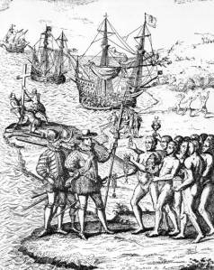 Christopher Columbus at Hispanola, 1492