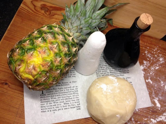 Ingredients for the Tart of the Ananas