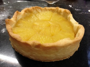 Tart of the Ananas, with the stewed pineapple.